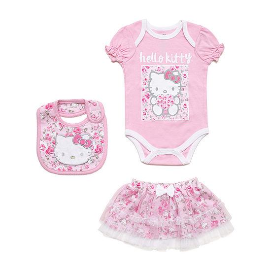 Hello Kitty 3-pc Bodysuit Set Girls