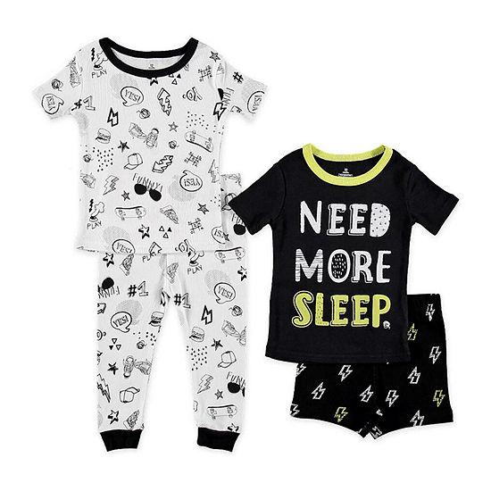 Night Life 4-pc. Pajama Set Preschool Boys