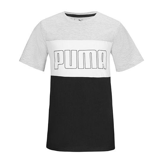 Puma Boys Crew Neck Short Sleeve Graphic T-Shirt Preschool / Big Kid