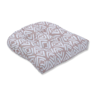 Pillow Perfect Fearless Blush Wicker Seat Dining Cushion