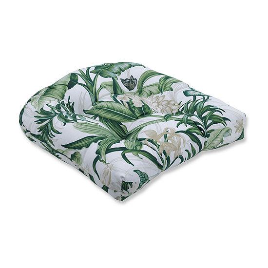 Pillow Perfect Wailea Coast Verte Wicker Seat Dining Cushion