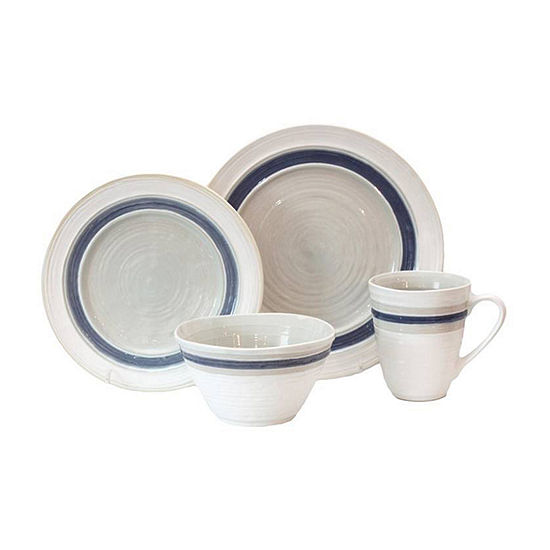 Baum Rustic Stripe 16-pc. Dinnerware Set