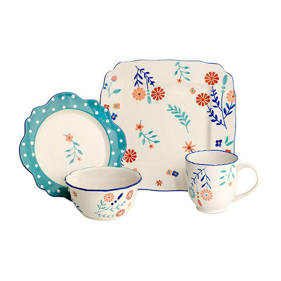 Baum Blossoming Floral 16-pc. Dinnerware Set