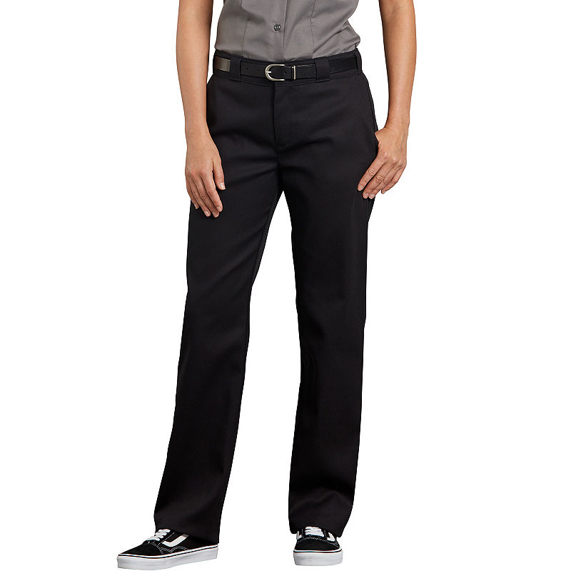 Dickies Flex 774 Original Twill Womens Mid Rise Straight Workwear Pant, Size 4, Black