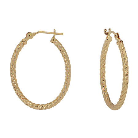 Gold Close Out 14K Gold 18mm Hoop Earrings, One Size