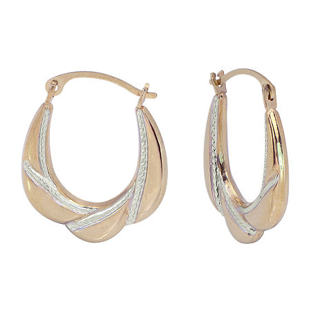 Gold Close Out 14K Gold 21mm Hoop Earrings, One Size