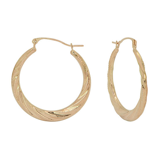 Gold Close Out 10K Gold 23mm Hoop Earrings