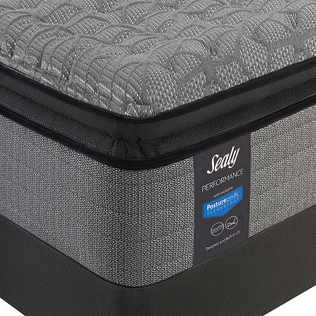 Sealy Posturepedic Humbolt LTD Plush Pillow Top - Mattress + Box Spring, California King, Gray