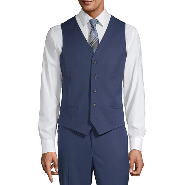 JF J.Ferrar Mens Slim Fit Suit Vest - Slim