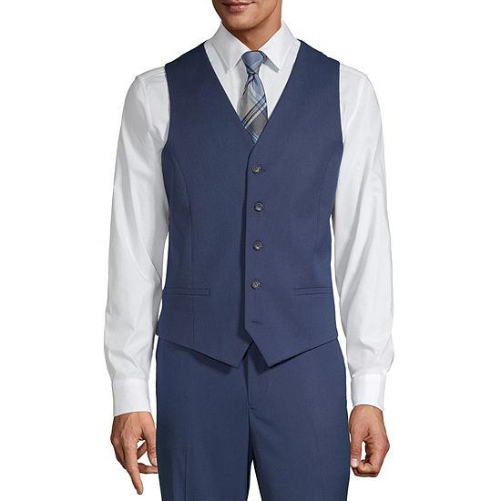 JF J.Ferrar Mens Slim Fit Suit Vest - Slim