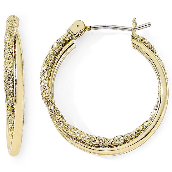 Monet® Gold-Tone Small Twist Hoop Earrings