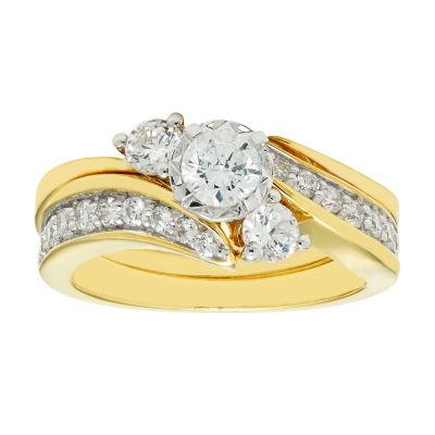 1 CT. T.W. Diamond 10K Yellow Gold Bridal Set