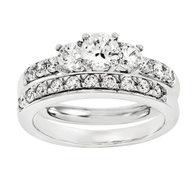1/2 CT. T.W Diamond 14K White Gold Bridal Set