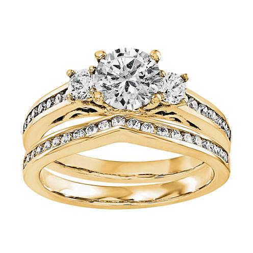 5/8 CT. T.W Diamond 14K Yellow Gold Bridal Set