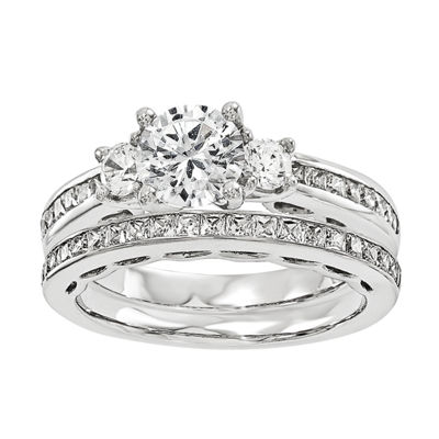 5/8 CT. T.W Diamond 14K White Gold Bridal Set