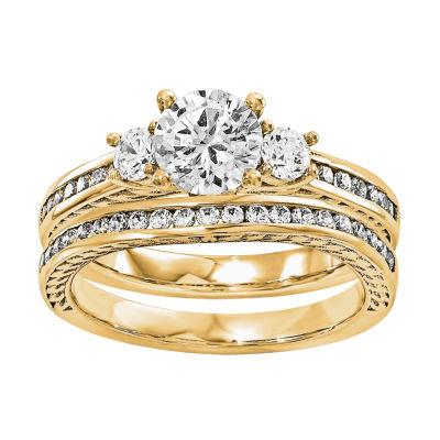 7/8 CT. T.W Diamond 14K Yellow Gold Bridal Set