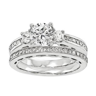 1 CT. T.W Diamond 14K White Gold Bridal Set