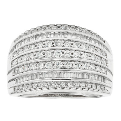 1 CT. T.W. Diamond 10K White Gold Wedding Band