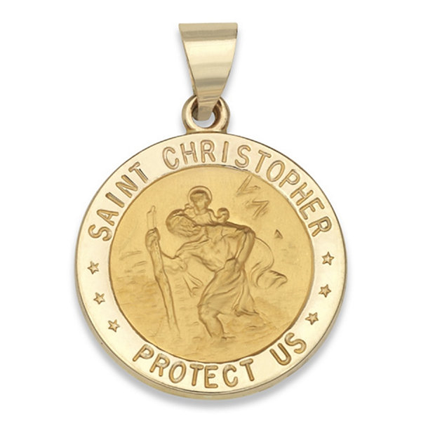 14k yellow gold saint christopher medal charm pendant jcpenney 14k yellow gold saint christopher medal charm pendant aloadofball Images