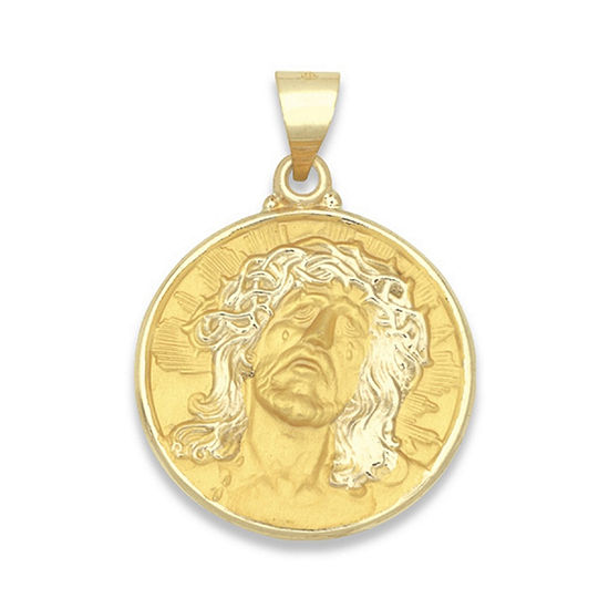"14K Yellow Gold ""ecce Homo"" Medal Charm Pendant"