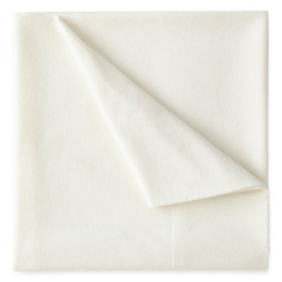 JCPenney Home Solid Flannel Sheet Set