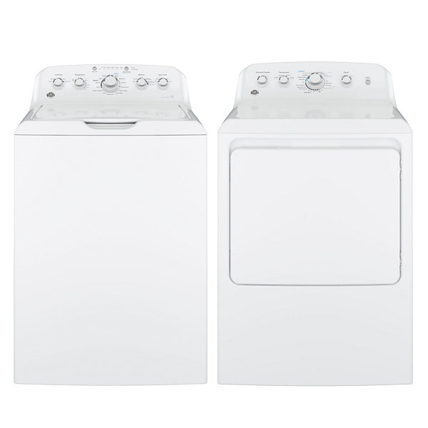 GE® Top Load 2-pc. Gas Washer & Dryer Package- White