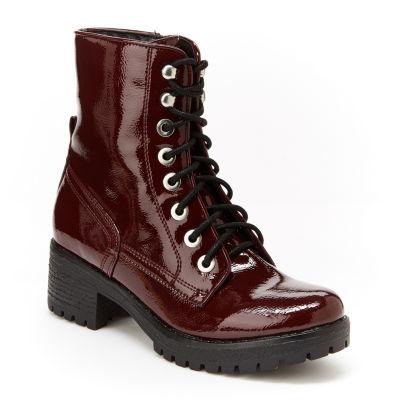 Unionbay Womens Allie Combat Boots Lace-up