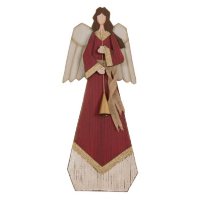 Angel Statue With Bell Tabletop Decor