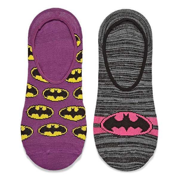 2 Pair Batgirl Liner Socks - Womens