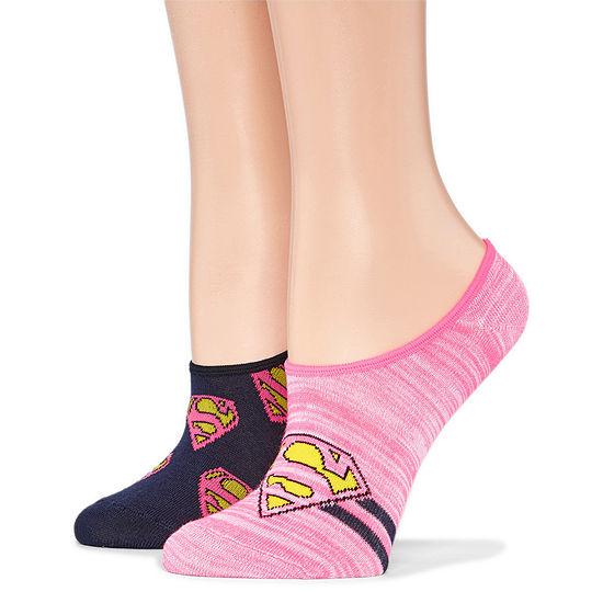 2 Pair Liner Socks - Supergirl
