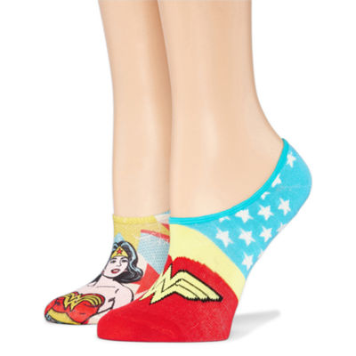 2 Pair Knit Liner Socks - Wonder Woman
