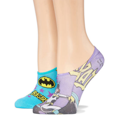 2 Pair Liner Socks - Batgirl Multi