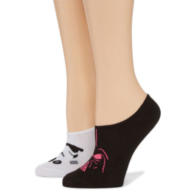 2 Pair Liner Socks - Darth Vader Multi