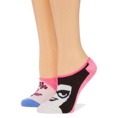 2 Pair Liner Socks - Harley Quinn