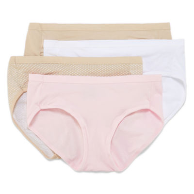 Hanes® Ultimate Cotton Stretch Hipster Panties - 4pk