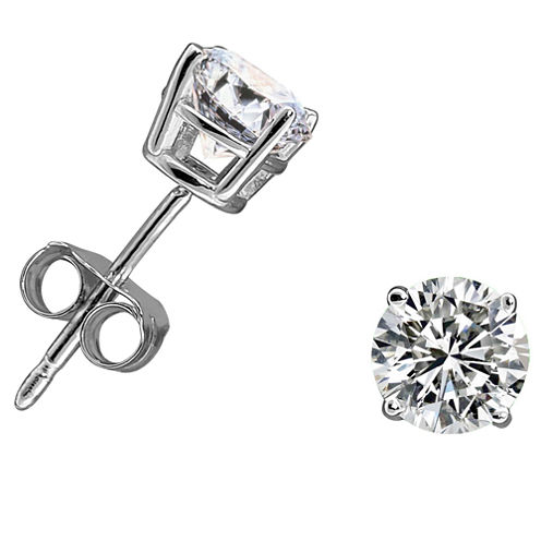 3/4 CT. T.W. Round White Diamond 14K Gold Stud Earrings