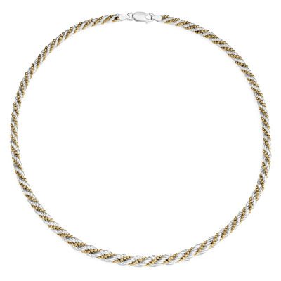 N/A Womens 18 Inch Sterling Silver Link Necklace