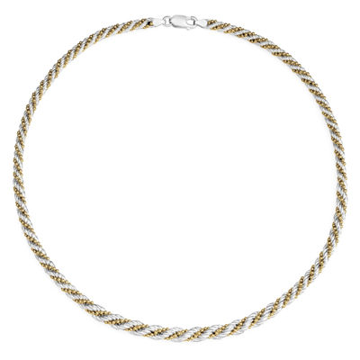 Womens 18 Inch Sterling Silver Link Necklace