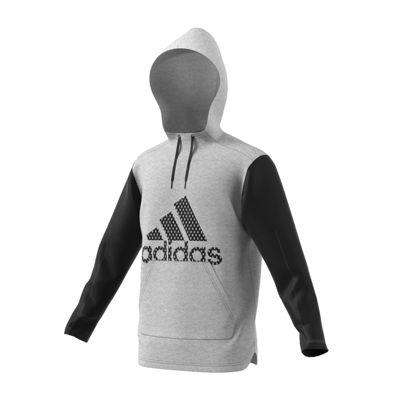 adidas Long Sleeve Hooded Moisture Wicking Hoodie-Athletic