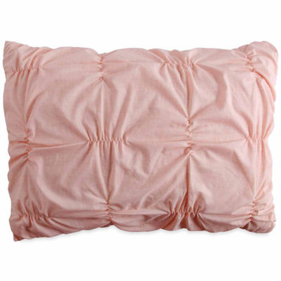 Peri Check Smocked Pillow Sham