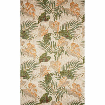 Liora Manne Ravella Tropical Leaf Hand Tufted Rectangular Rugs