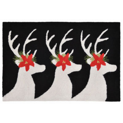 Liora Manne Frontporch Reindeer Hand Tufted Rectangular Rugs