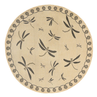 Liora Manne Terrace Dragonfly Round Rugs