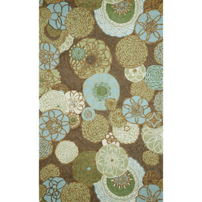 Liora Manne Ravella Disco Hand Tufted Rectangular Indoor/Outdoor Area Rug