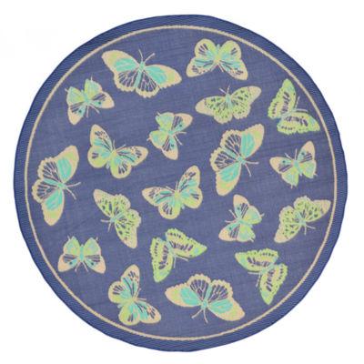 Liora Manne Playa Butterfly Round Rugs