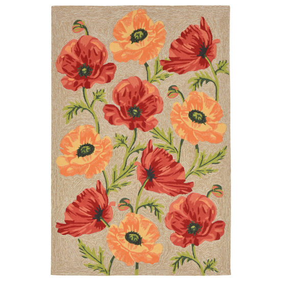 Liora Manne Ravella Icelandic Poppies Hand Tufted Rectangular Rugs