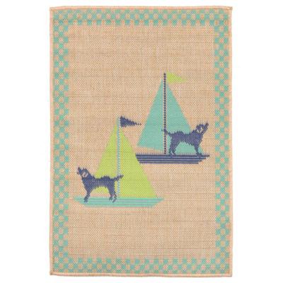 Liora Manne Playa Sailing Dogs Rectangular Rugs