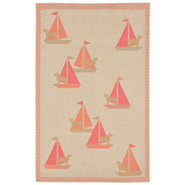 Liora Manne Playa Sailing Dogs Rectangular Rugs