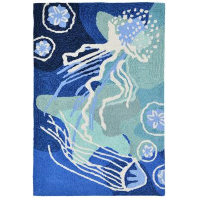Liora Manne Capri Jelly Fish Hand Tufted Rectangular Rugs