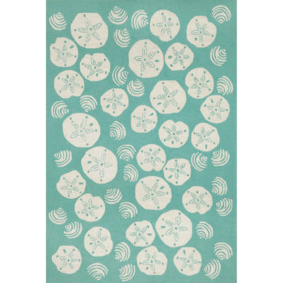 Liora Manne Frontporch Shell Toss Hand Tufted Rectangular Rugs
